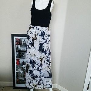 💥💥Kensie Maxi Black and Splattered Design Dress